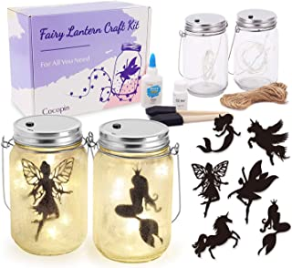 Fairy Lantern Craft Kit, Decorative Hanging Mason Jar with String Lights, Arts and Crafts Ideas for Girls, Best Creative A...