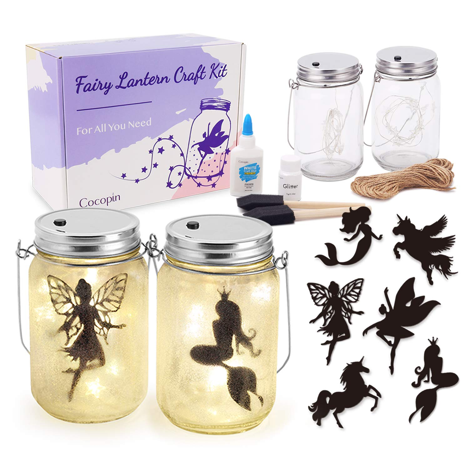 Fairy Lantern Craft Kit Decorative Hanging Mason Jar With String Lights Arts And Crafts Ideas For Girls Best Creative Activities For Birthday Party And School Amazon Com Au Kitchen