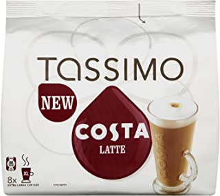 Tassimo Costa Latte (8 Drinks Per Pack) (Pack Of 3, Total 48 T-Discs)