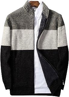 f1ce5dc75149 ZKOO Hombres Grueso Cárdigan Jersey de Punto Casual Suéter Tejido de Punto  Chaqueta Calentar Otoño e
