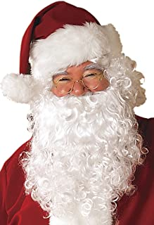 Santa Claus White Beard Moustache Christmas Party Fancy Dress Up Cosplay Props