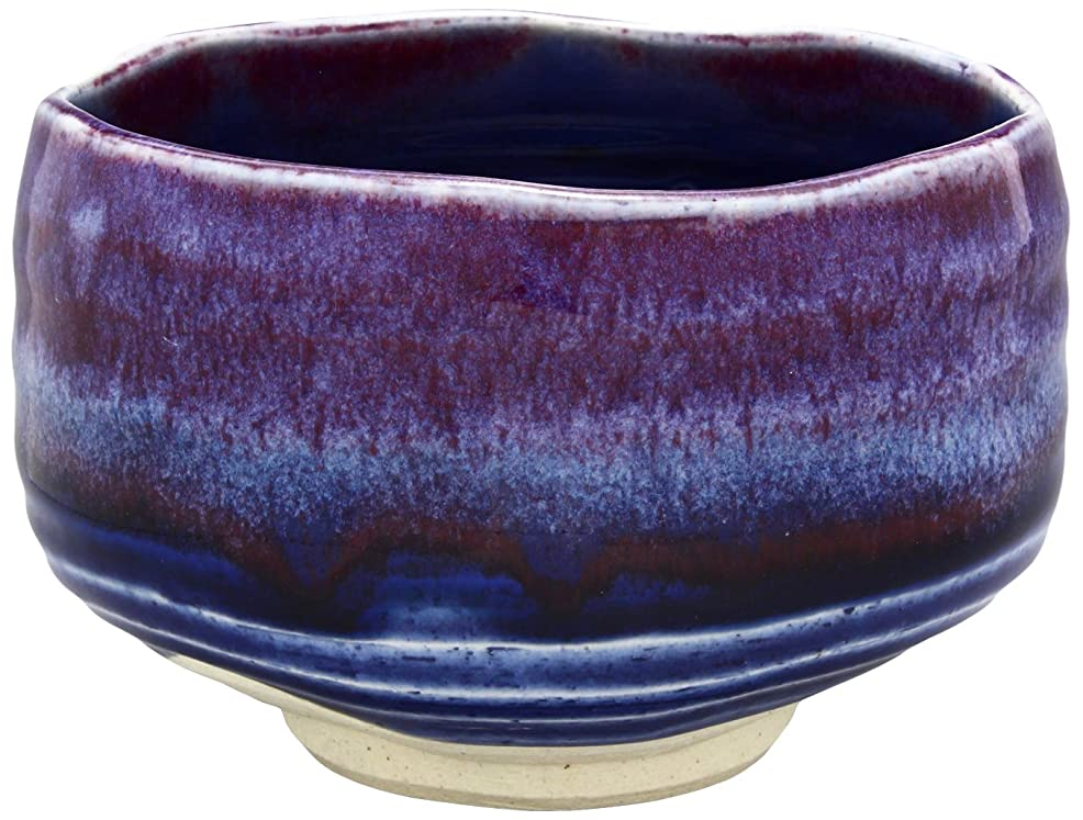 細菌青写真提供する美濃焼 抹茶碗 紺彩