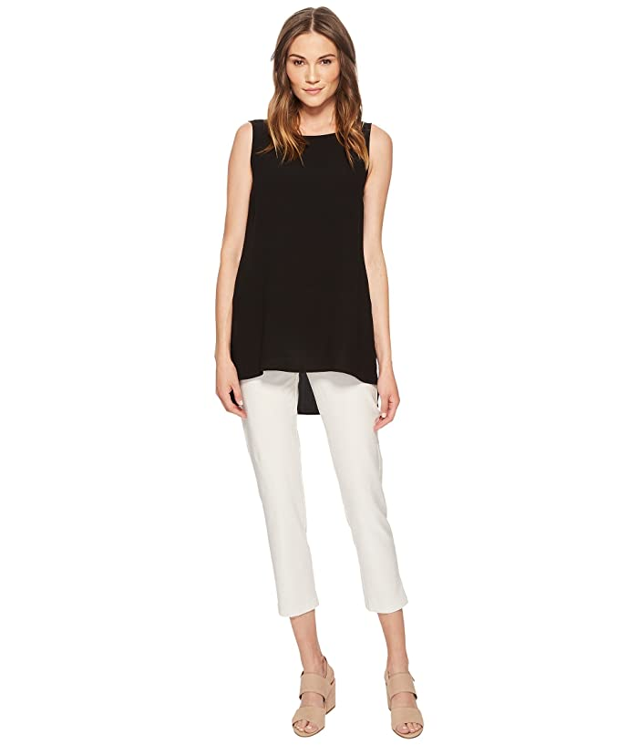 Eileen Fisher  Slim Ankle Pants in Washable Stretch Crepe (Bone Washable Stretch Crepe) Womens Casual Pants