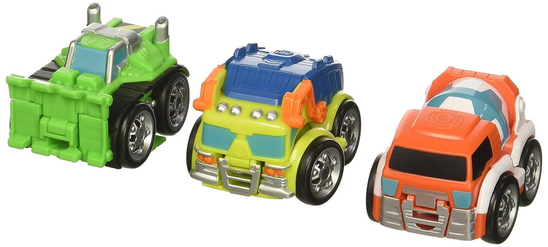 Playskool Heroes Transformers Rescue Bots Flip Racers Gryphon Rock Construction Team