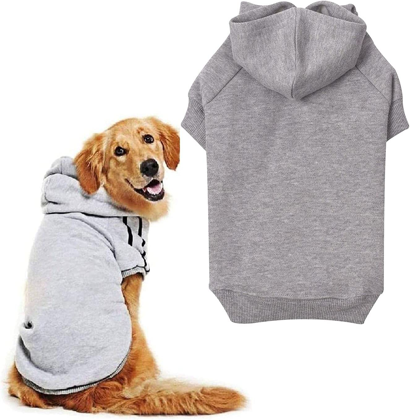 Columbus Mall OWBB Dog Hoodies Made of Soft Warm Inside Miami Mall Clothes Lig Velvet