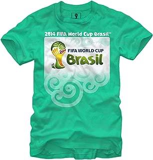 Official 2014 FIFA World Cup Brasil Logo Adult T-Shirt-Green
