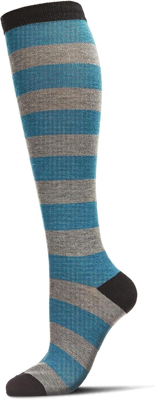 MeMoi Shaded Stripes Cashmere Blend Knee High Socks