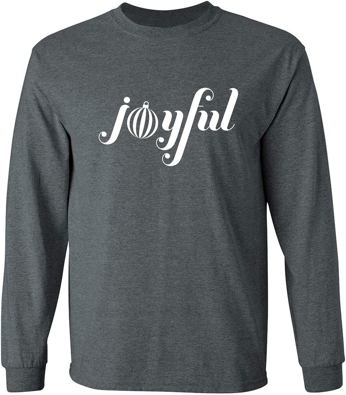 Joyful Adult Long Sleeve T in Dark Heather - XXXX-Large