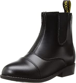 Saxon Women's Equileather Zip Front Boots, Black, Size 8.5