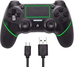 Sollop Wireless Controller for PS4 Playstation 4 Slim Dualshock PC Sixaxies, Bluetooth Remote Gamepad Joystick with USB Charger Cable (Green)