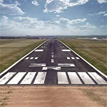 Baocicco 6x6ft Airstrip Plane Runway Backdrop Vinyl Photography Background Airport Modern Traffic Facilities Fast Air Transport Helicopter Military Civilian High Tech Children Adult Party Portrait