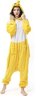Katara 1744 Kigurumi Unisex Adulti Costume Animale Pigiama intero Carnevale, Anatra, 175-185cm