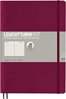 Leuchtturm1917 Softcover B5 Composition Lined Notebook - Port Red
