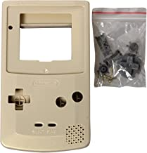eJiasu Full Replace Parts Housing Shell Pack for Nintendo GBC Gameboy Color (Gold Case 10PCS)