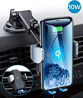 Andobil Qi Wireless Car Charger Mount[Intelligent & Safety] Auto Clamping iPhone Car Mount Wireless Air Vent/Dash Holder for iPhone se/11/11 Pro Max/Xs/XR/X/8, Samsung Galaxy S20/S10/S9/S8 Note 10/9