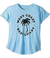 Best Coast West Coast Rolled Short Sleeve Slub Tee (Big Kids)