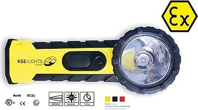 KSE-LIGHTS GmbH KS-9900 LED-Stablampe mit ATEX 1G-Zulassung Gelb//Schwarz