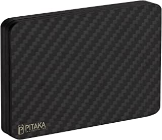 PITAKA MagEZ Wallet Minimalist Slim Carbon Fiber Modular Card Holder RFID Blocking Wallet-Matte Finish/Twill