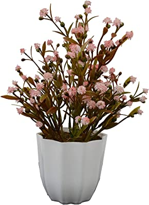 Fancy Mart Artificial English Daisy in Long Pot (30 cm, Multi-Color)