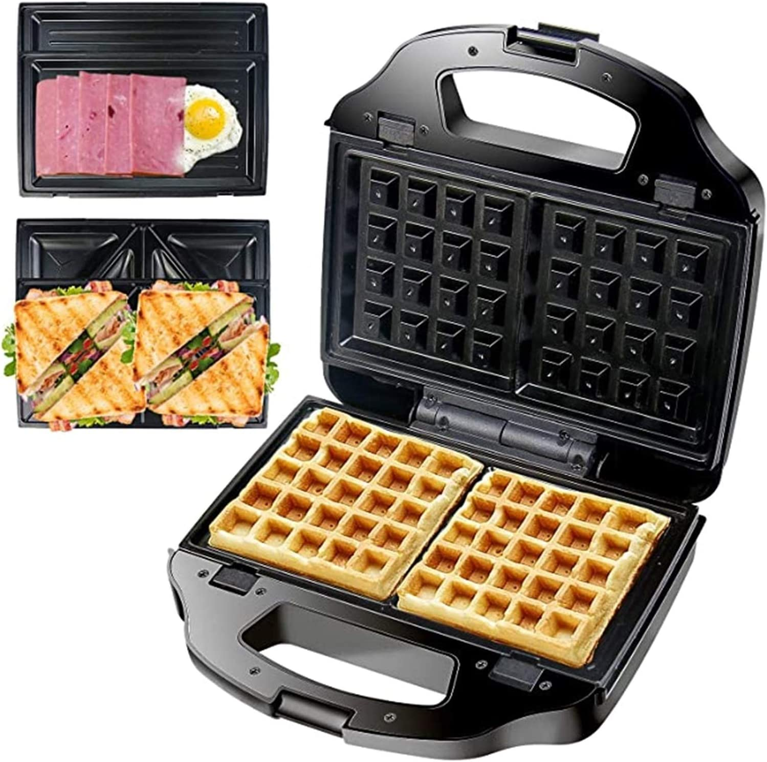 Waffle Maker,Electric Baking Pan,Waffle Maker 6 with Max 56% OFF Removab Charlotte Mall