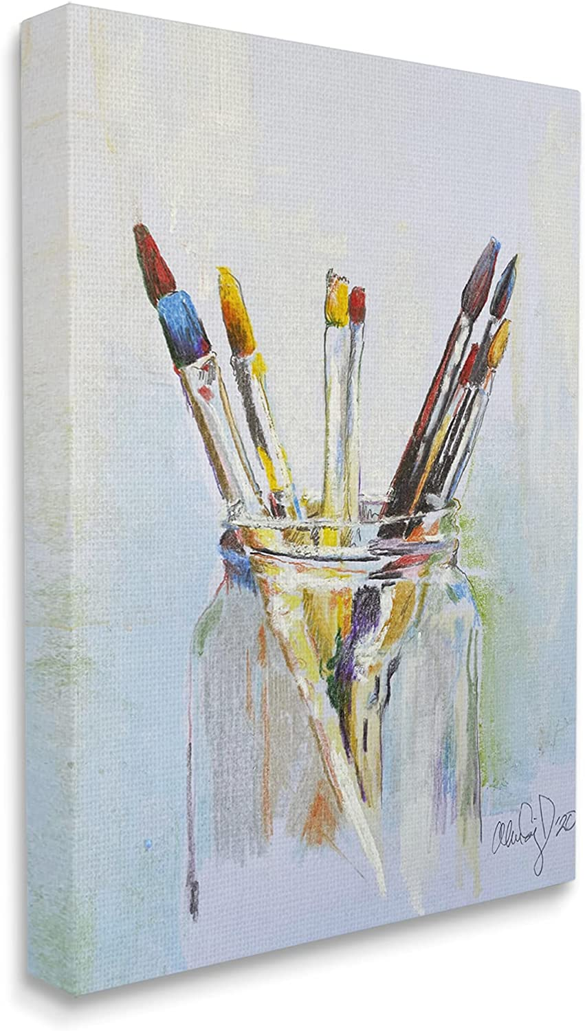 Stupell Max 59% OFF Industries In stock Paintbrushes in Glass Expressive Jar T Artist
