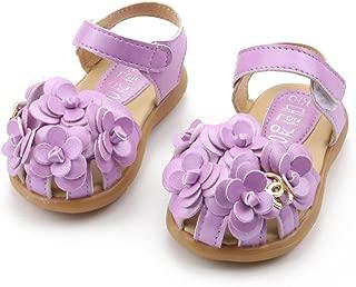 Children's Shoes Spring Summer Kids's Sandals Girls Flowers Baby Soft Bottom Flower Shoes Size21-30