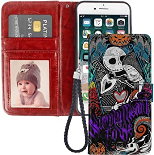 Wallet Case Fits for Apple iPhone 7 Plus | 8 Plus 5.5-Inch Jack Skellington Nightmare Before Christmas Sally Halloween Simply Meant to Be