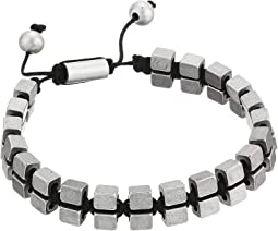 Cube Bead Double Sided Adjustable Bracelet in Stainless Steel