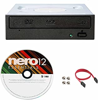 Pioneer 16X BDR-209DBK Internal Blu-ray Burner Bundle with Nero Burning Software and Cable Accessories (SATA Interface)