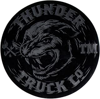 Thunder Trucks Tiger Skateboard Sticker - Silver/Black 9.5cm wide skate sk8