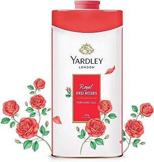 YARDLEY Royal Red Rose Perfumed Talcum Body Powder, all day floral rose fragrance, 125gm