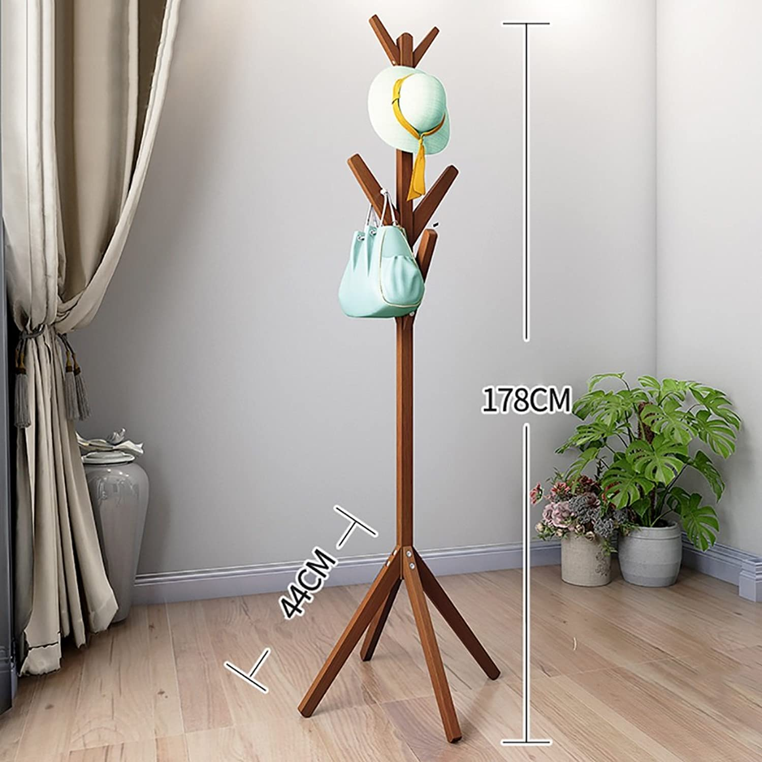JPYMJ Coat Rack Floor Hangers Bedroom Solid Wood Hangers Living Room Clothes Hanger (color   C)