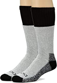 Dickies Mens High Bulk Acrylic Thermal Boot Crew Socks, Black, ...