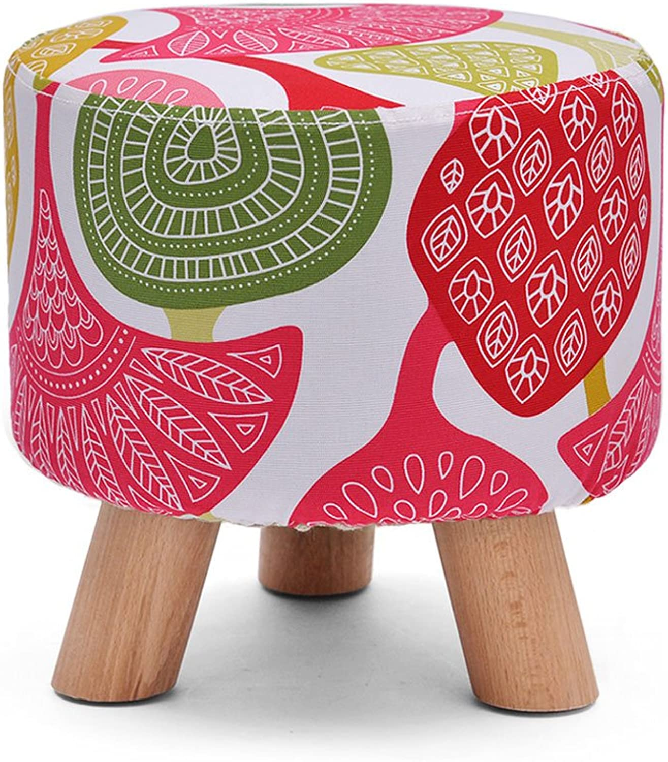 MDD  Solid wood stools shoe bench fabric stool foot stool small bench sofa stool vanity stool stool