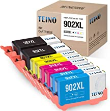 TEINO Remanufactured Ink Cartridges Replacement for HP 902 902XL 902 XL use with OfficeJet Pro 6962 6958 6968 6978 6975 6970 6960 6954 6950 6979 6951 6961 6963 (Black, Cyan, Magenta, Yellow, 8-Pack)