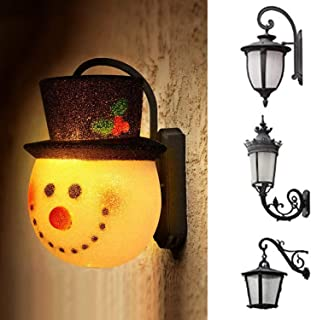 Stanta Claus Snowman Porch Light Christmas Decorations Outdoor Holiday Decorations for Standard Porch Light Decoration (Sn...