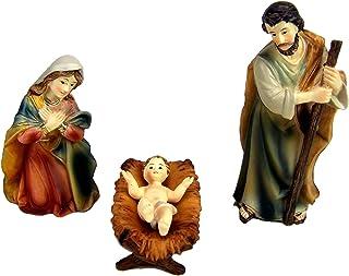Krippenfiguren Krippenblock Heilige Familie auf der Flucht