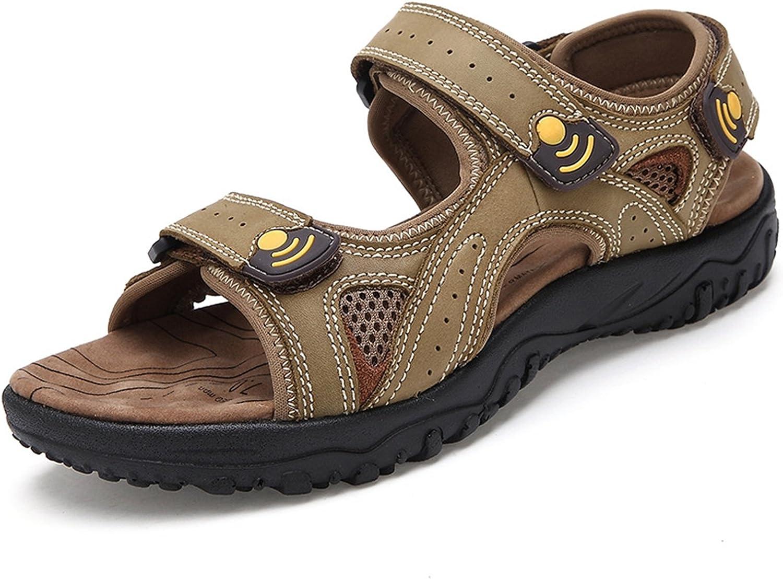 LXIE Pakamo Men's Sandals Genuine Leather Beach Fisherman shoes Non- Slip wear-Resistant Summer Slippers Men Outdoor Hiking Men's shoes, 41