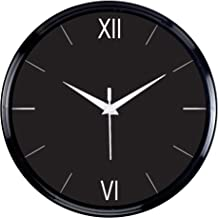 Efinito Wall Clock - Sheer Black - 12 Inch (Silent Movement, Black Frame)
