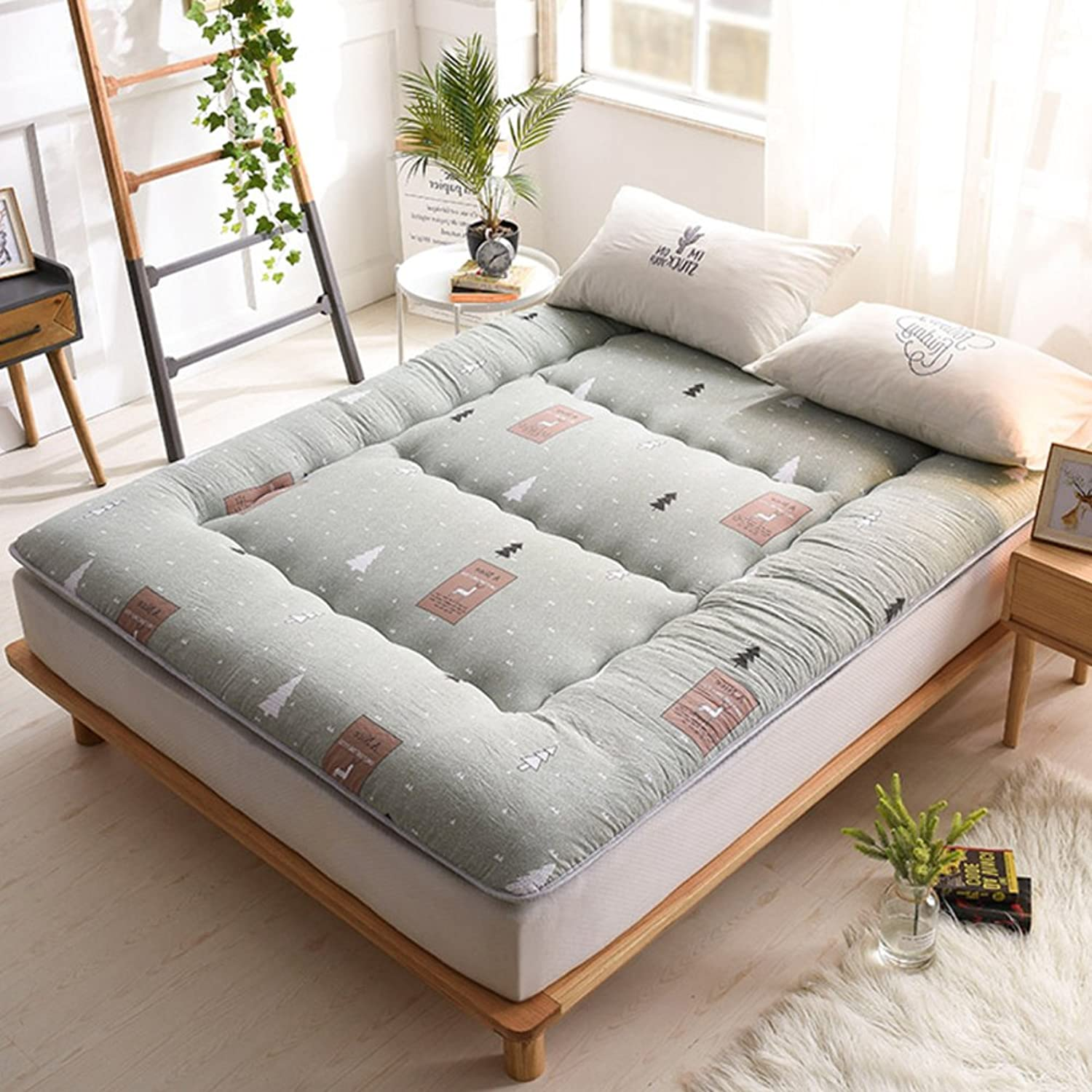 Washed Cotton Padded Mattress,Tatami Mattress Student Dormitory 1.5m1.8 Meters Bed Linen Double Mattress Portable Sleeping pad-A 90x200cm(35x79inch)