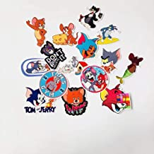 A Sticker Shop 15pcs Tom and Jerry tv Show Creative DIY Stickers Funny Decorative Cartoon for Cartoon PC Luggage Computer Notebook Phone Home Wall Garden Window Snowboard