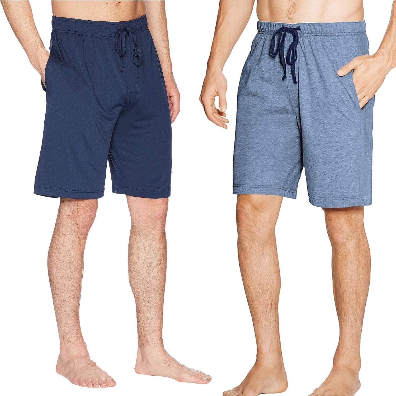 SGNOIEY Men's Sleep Shorts,100% Cotton Knit Sleep Shorts & Lounge Wear