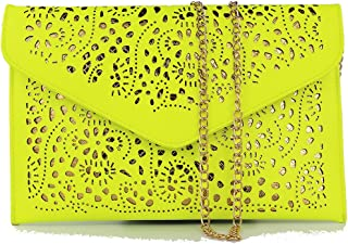 neon clutch purse