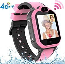 4G GPS Kids Smartwatch Phone - Boys Girls Waterproof Watch with GPS Locator 2 Way Call Camera Voice & Video Chat SOS Alarm Pedometer WiFi Wrist Watch Birthday Back to School Gifts for Students,4G Pink