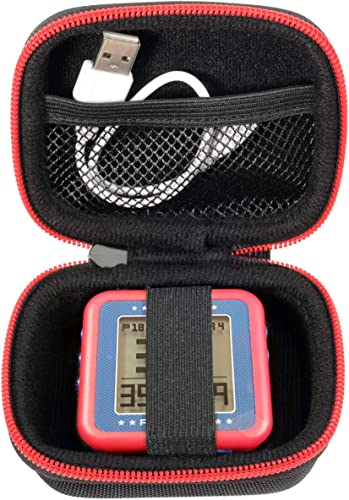 lowest WGear Golf GPS Case for Bushnell Phontom Golf GPS , Neo Ghost Golf GPS; Garmin 010-01959-00 Approach G10, and Other Handheld popular Golf GPS, mesh Pocket and Detachable Wrist Strap (Black sale with red Zip) online