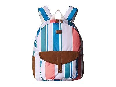 Roxy Caribbean Backpack (Marshmallow Fresh Stripe) Backpack Bags