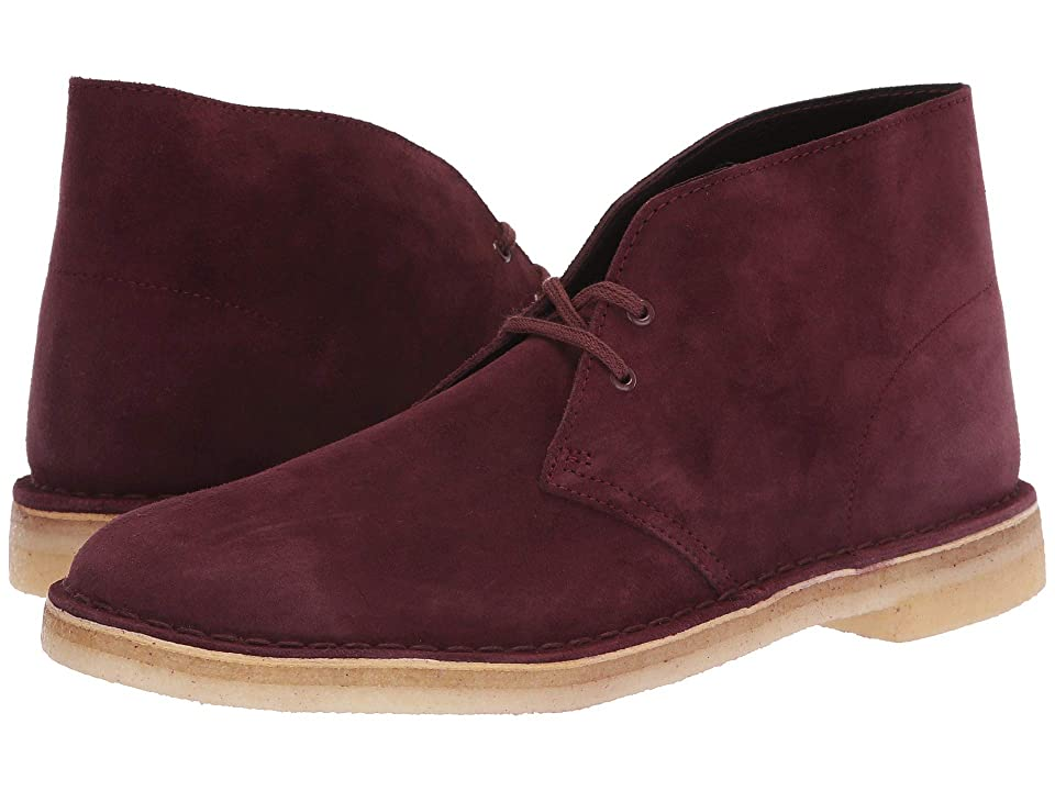 Clarks Desert Boot (Bordeaux Suede) Men