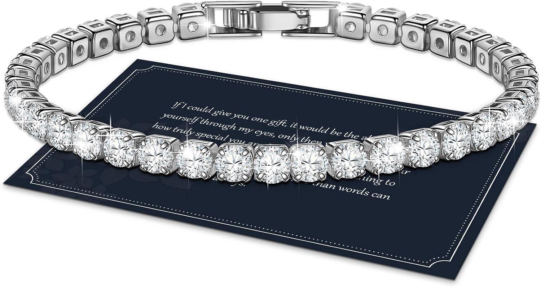 J.Fée Tennis Bracelet Sparkling 5A Quantity limited Go Zirconia Cubic Max 71% OFF