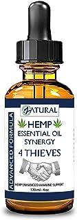 4 Thieves Hemp Essential Oil Blend - Hemp, 100% pure undiluted essential oils of: Clove Bud, Lemon, Cinnamon Bark, Pepperm...