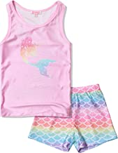 QPANCY Girls 2-Piece Tankini Swimsuits Unicorn Mermaid Bathing Suits Swimwear